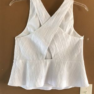 J Crew wide cross back top